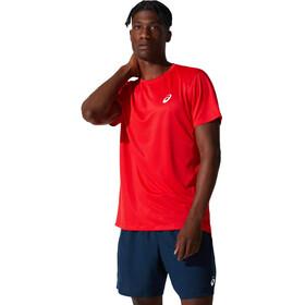 asics Core Maglietta a Maniche Corte Uomo, rosso